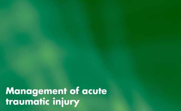 Management of acute traumatic injury